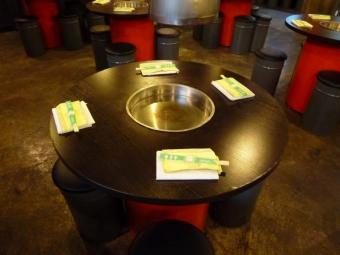 4人用桌席。