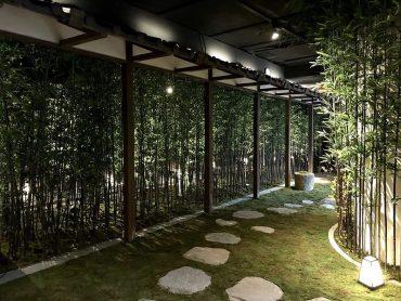 京都・嵐山の竹林をコンセプトにした通路