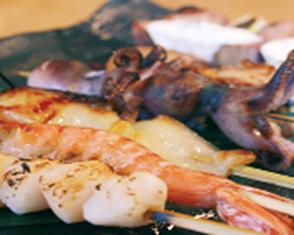 炭火海鮮串焼
